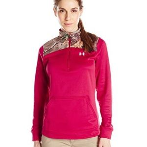 Under Armour L Pink Fleece 1/4 with Realtree